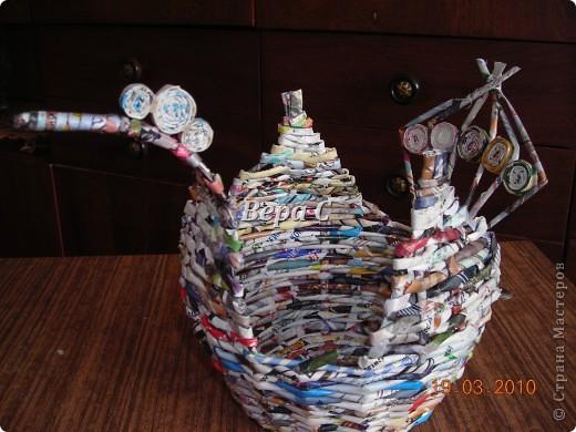 Мастер-класс, Плетение, : МК плетеной курочки к Пасхе под яйца Бумага журнальная Пасха, . Фото 16