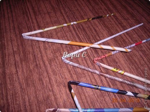 Мастер-класс,  Плетение, :  Опять  газета...  плетение овального донышка...  плетение двумя палочками ( 1 часть) Бумага журнальная Отдых, . Фото 2