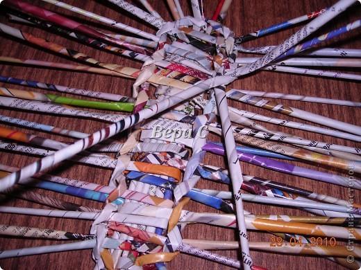 Мастер-класс,  Плетение, :  Опять  газета...  плетение овального донышка...  плетение двумя палочками ( 1 часть) Бумага журнальная Отдых, . Фото 6