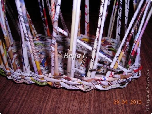 Мастер-класс,  Плетение, :  Опять  газета...  плетение овального донышка...  плетение двумя палочками ( 1 часть) Бумага журнальная Отдых, . Фото 11