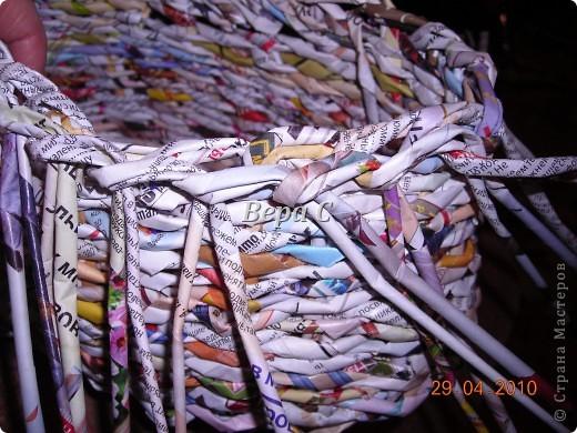 Мастер-класс,  Плетение, :  Опять  газета...  плетение овального донышка...  плетение двумя палочками ( 1 часть) Бумага журнальная Отдых, . Фото 20