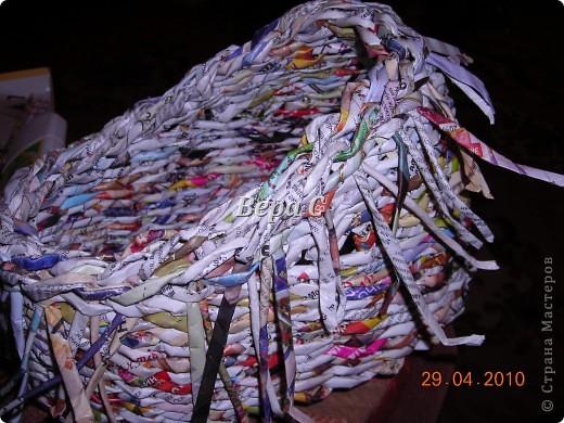 Мастер-класс,  Плетение, :  Опять  газета...  плетение овального донышка...  плетение двумя палочками ( 1 часть) Бумага журнальная Отдых, . Фото 21
