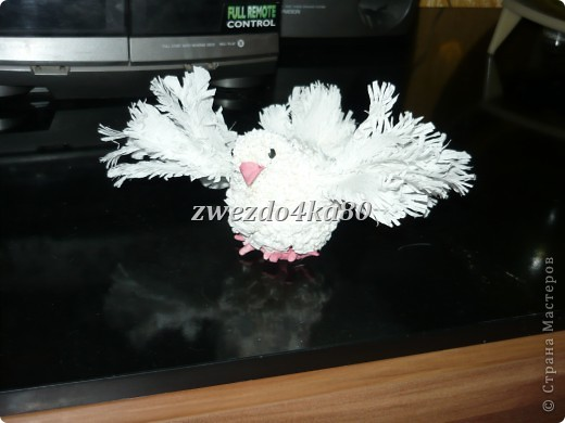 Торцевание: голубь Бумага