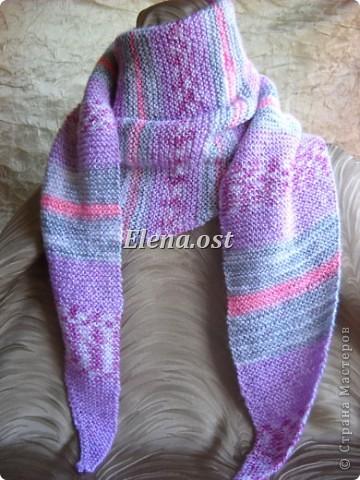 Бактус - треугольный шарф-косынка МК ...