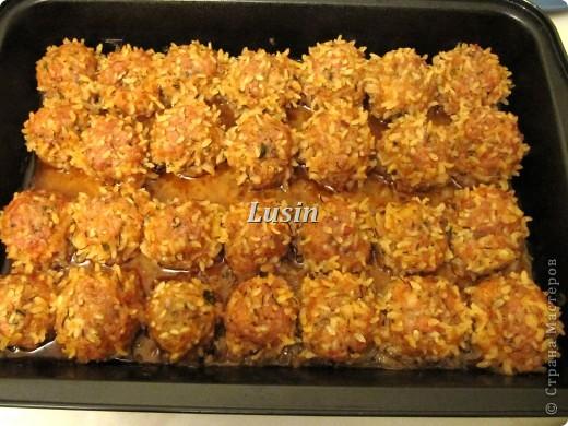 фрикадельки с рисом в томатном соусе рецепт с фото