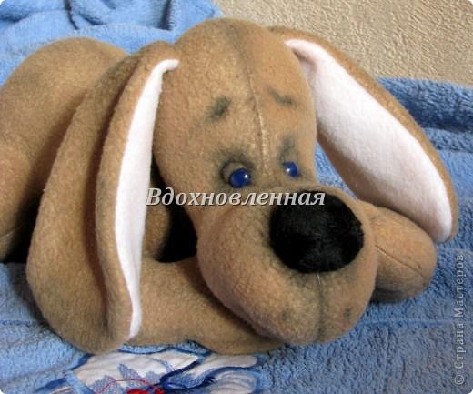 Игрушка Шитьё: Собачка Сонечка Ткань. Фото 1