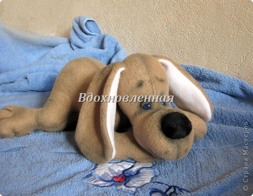 Игрушка Шитьё: Собачка Сонечка Ткань. Фото 3