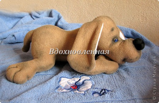Игрушка Шитьё: Собачка Сонечка Ткань. Фото 9