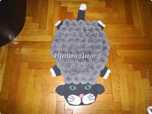 Интерьер: Мои коврики из помпонов Помпоны.  Фото 2.