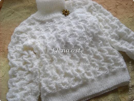 """Гардероб,  Вязание, Вязание спицами, : Вязаный свитер из Ангора RAM """"Белый снег"""" Пряжа 8 марта, День рождения, Новый год, Рождество. Фото 2"""