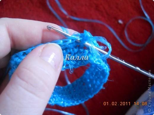 вязание чепчика крючком.
