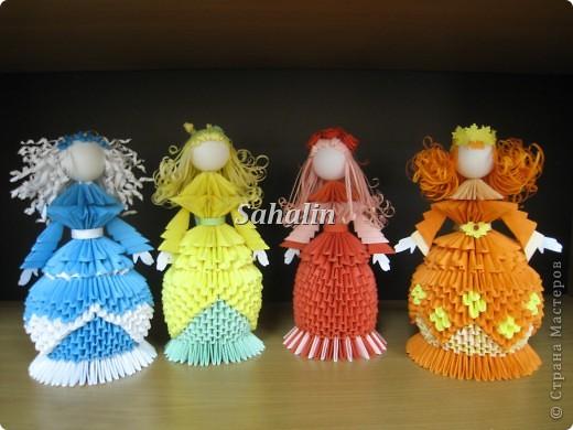 Модульное оригами девочка осень схема сборки