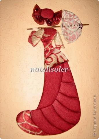 """Мастер-класс,  : """"Моя прекрасная Леди"""" в технике инкрустации ткани по картон-муссу Ткань . Фото 1"""