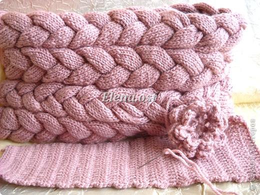 ...Вязание, Вязание крючком, Вязание спицами: Вязаная сумка из кос Пряжа...