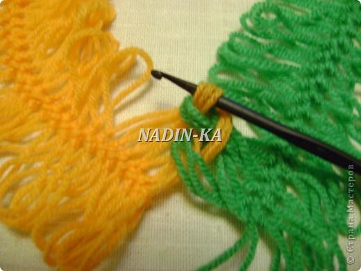 Гардероб, Мастер-класс Вязание, Вязание крючком: МК вязание на вилке. 1 Нитки, Пряжа. Фото 10