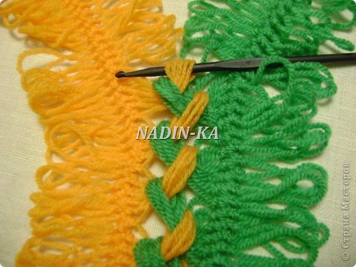 Гардероб, Мастер-класс Вязание, Вязание крючком: МК вязание на вилке. 1 Нитки, Пряжа. Фото 12
