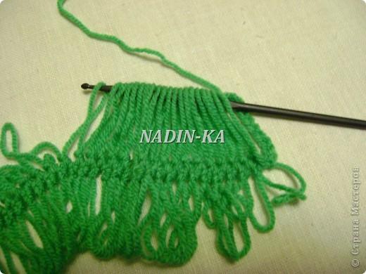 Гардероб, Мастер-класс Вязание, Вязание крючком: МК вязание на вилке. 1 Нитки, Пряжа. Фото 13