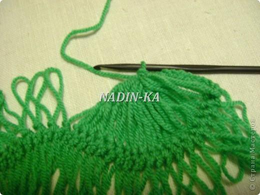 Гардероб, Мастер-класс Вязание, Вязание крючком: МК вязание на вилке. 1 Нитки, Пряжа. Фото 14
