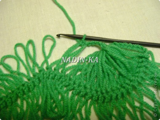 Гардероб, Мастер-класс Вязание, Вязание крючком: МК вязание на вилке. 1 Нитки, Пряжа. Фото 15