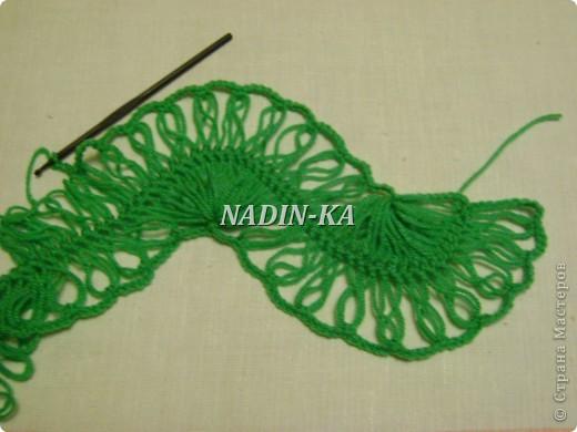Гардероб, Мастер-класс Вязание, Вязание крючком: МК вязание на вилке. 1 Нитки, Пряжа. Фото 18