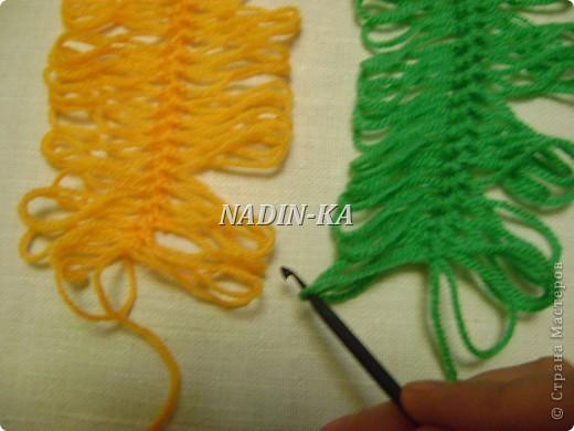 Гардероб, Мастер-класс Вязание, Вязание крючком: МК вязание на вилке. 1 Нитки, Пряжа. Фото 3