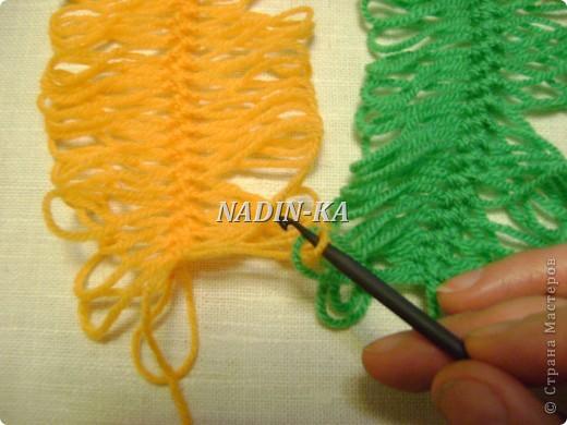 Гардероб, Мастер-класс Вязание, Вязание крючком: МК вязание на вилке. 1 Нитки, Пряжа. Фото 4