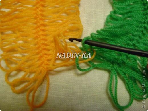 Гардероб, Мастер-класс Вязание, Вязание крючком: МК вязание на вилке. 1 Нитки, Пряжа. Фото 5