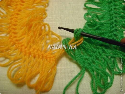 Гардероб, Мастер-класс Вязание, Вязание крючком: МК вязание на вилке. 1 Нитки, Пряжа. Фото 9