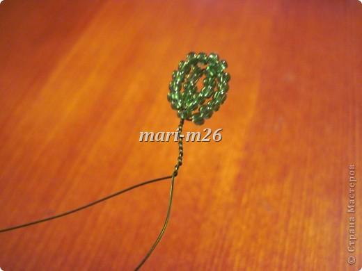 Мастер-класс Бисероплетение: Корзиночка с цветами Бисер. Фото 8