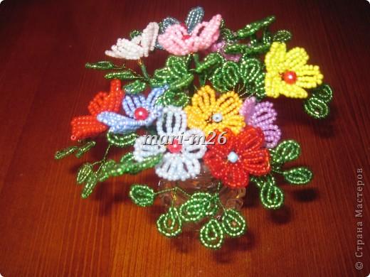 Мастер-класс Бисероплетение: Корзиночка с цветами Бисер. Фото 15