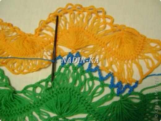 Гардероб, Мастер-класс Вязание, Вязание крючком: МК вязание на вилке. 1 Нитки, Пряжа. Фото 19
