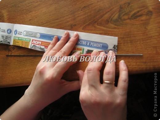 Мастер-класс,  Плетение, : А я так трубочки кручу + видео Бумага газетная . Фото 5