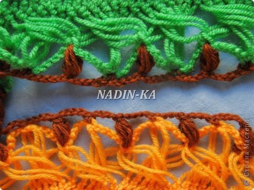 Гардероб, Декор предметов, Мастер-класс Вязание, Вязание крючком, Вязание спицами: МК вязание на вилке. 2 Нитки, Пряжа. Фото 12