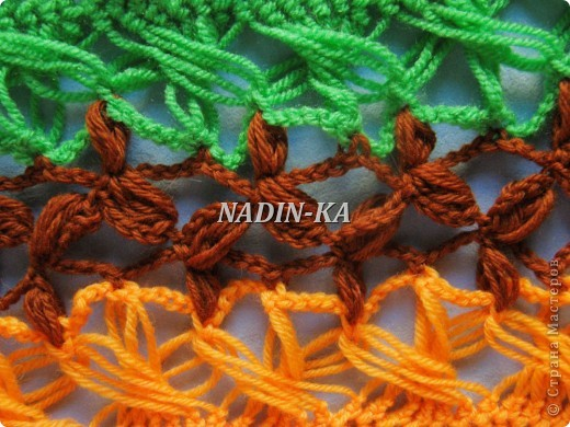Гардероб, Декор предметов, Мастер-класс Вязание, Вязание крючком, Вязание спицами: МК вязание на вилке. 2 Нитки, Пряжа. Фото 13