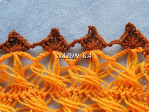 Гардероб, Декор предметов, Мастер-класс Вязание, Вязание крючком, Вязание спицами: МК вязание на вилке. 2 Нитки, Пряжа. Фото 3