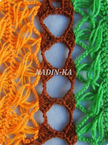Гардероб, Декор предметов, Мастер-класс Вязание, Вязание крючком, Вязание спицами: МК вязание на вилке. 2 Нитки, Пряжа. Фото 4