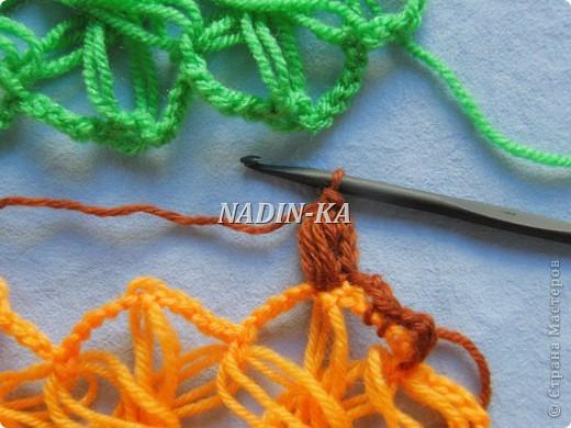 Гардероб, Декор предметов, Мастер-класс Вязание, Вязание крючком, Вязание спицами: МК вязание на вилке. 2 Нитки, Пряжа. Фото 5