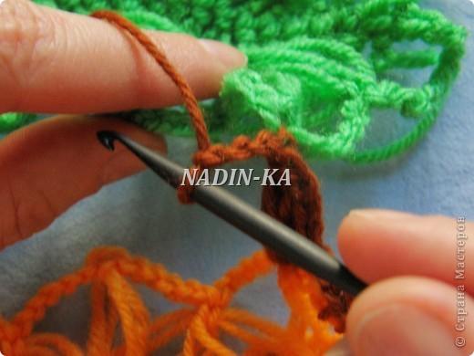 Гардероб, Декор предметов, Мастер-класс Вязание, Вязание крючком, Вязание спицами: МК вязание на вилке. 2 Нитки, Пряжа. Фото 7
