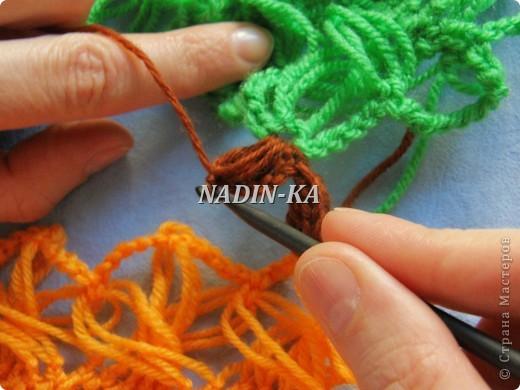 Гардероб, Декор предметов, Мастер-класс Вязание, Вязание крючком, Вязание спицами: МК вязание на вилке. 2 Нитки, Пряжа. Фото 8