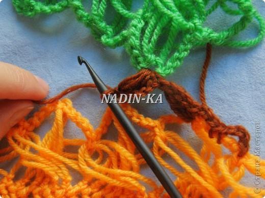 Гардероб, Декор предметов, Мастер-класс Вязание, Вязание крючком, Вязание спицами: МК вязание на вилке. 2 Нитки, Пряжа. Фото 9