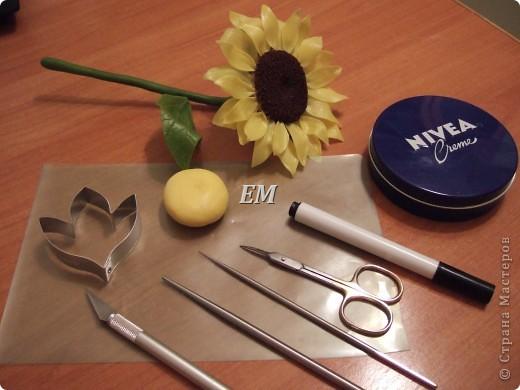 Мастер-класс Лепка: Как я делала подсолнухи. МК. Фарфор холодный. Фото 5