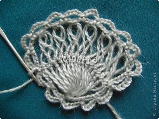 Гардероб, Мастер-класс Вязание, Вязание крючком: МК 3. Вязание на вилке. Берет из ракушек Нитки, Пряжа. Фото 13
