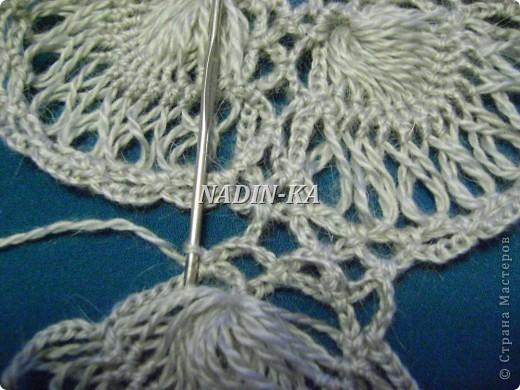 Гардероб, Мастер-класс Вязание, Вязание крючком: МК 3. Вязание на вилке. Берет из ракушек Нитки, Пряжа. Фото 18