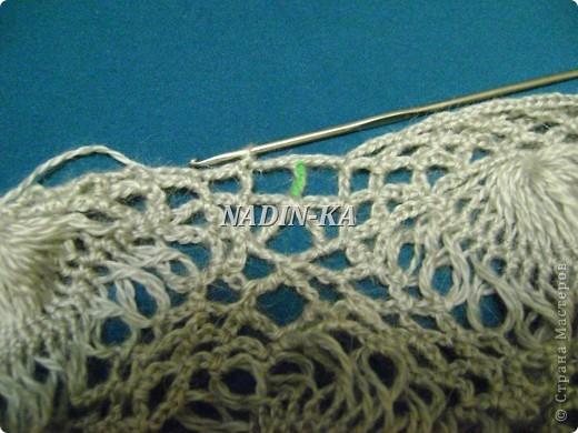 Гардероб, Мастер-класс Вязание, Вязание крючком: МК 3. Вязание на вилке. Берет из ракушек Нитки, Пряжа. Фото 30