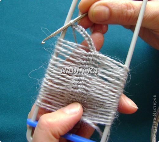 Гардероб, Мастер-класс Вязание, Вязание крючком: МК 3. Вязание на вилке. Берет из ракушек Нитки, Пряжа. Фото 5