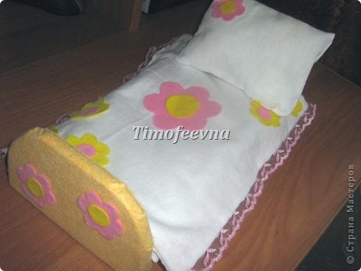Кровать для кукол барби своими руками из картона