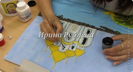 Картины из мокрой тканей своими руками