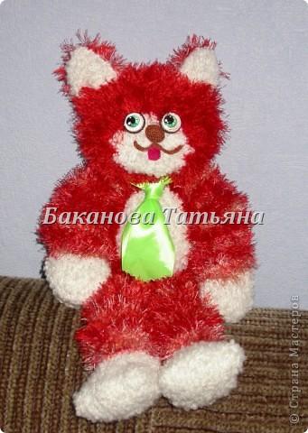 Игрушка, Мастер-класс Вязание: Вяжем кота на спицах (МК) + котенок крючком Пряжа