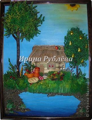 """Картина, панно, Мастер-класс Аппликация: """"Соломенный домик"""". Панно-оберег. Мастер-класс. Материал природный. Фото 1"""
