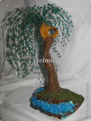 Поделка, изделие Бисероплетение: деревья Бисер.  Фото 4.